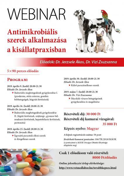 antimikrobiális és parazitaellenes gyógyszerek előadása
