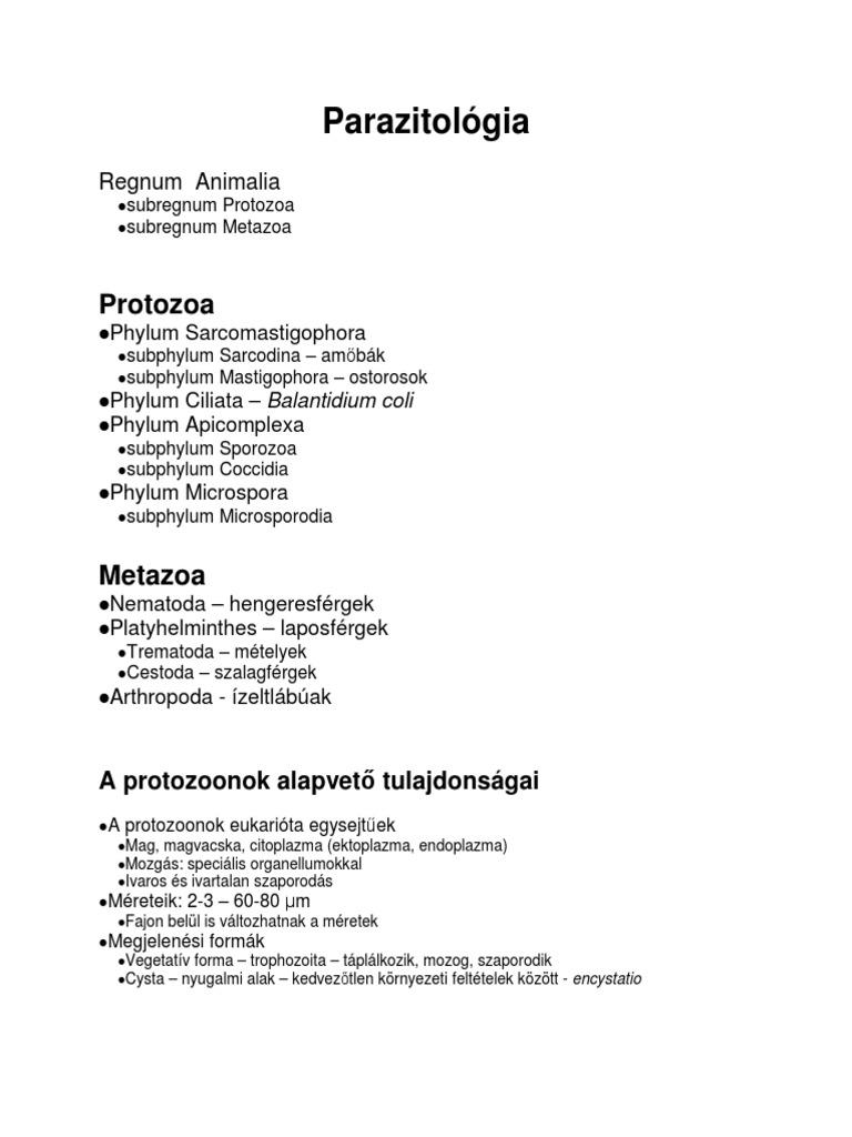 szalagféreg parazitológia)